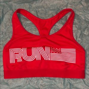 Old Navy Activewear Red America Run Sports Bra